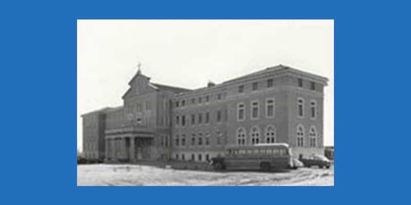 black and white photo of ndh building in 1925