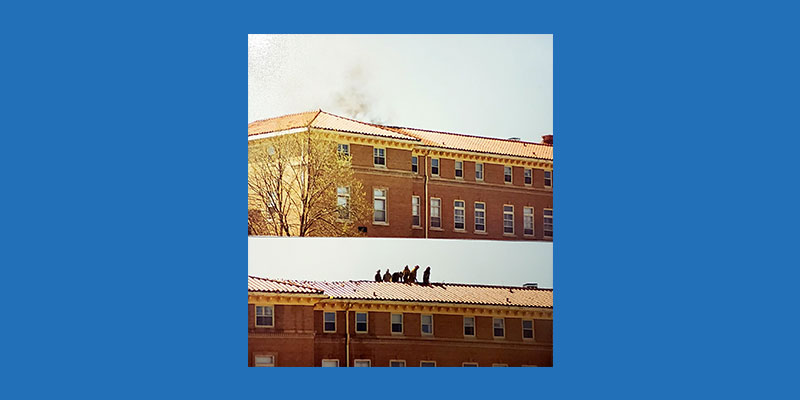 fire at motherhouse in 1988