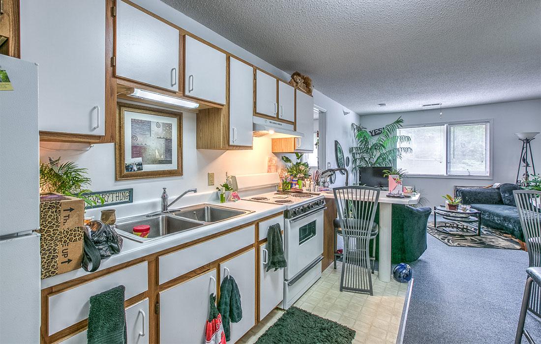 hud apartment kitchen