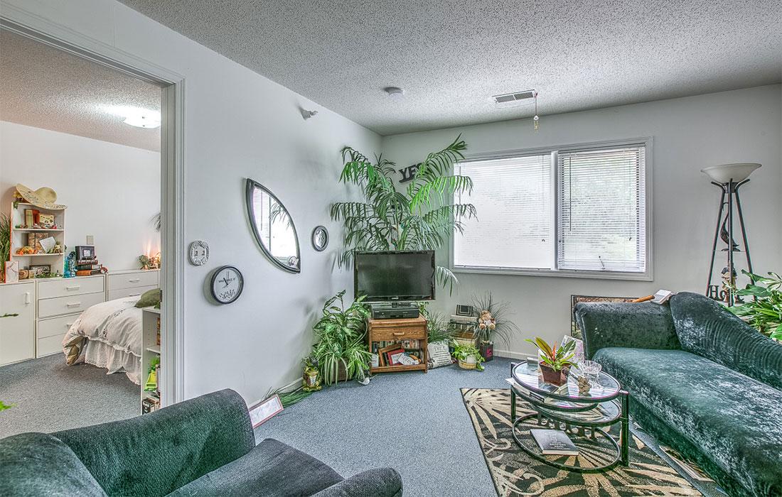 hud apartment living room