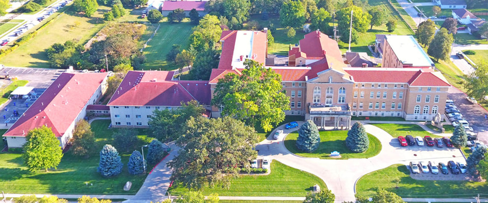 notre dame housing aerial view