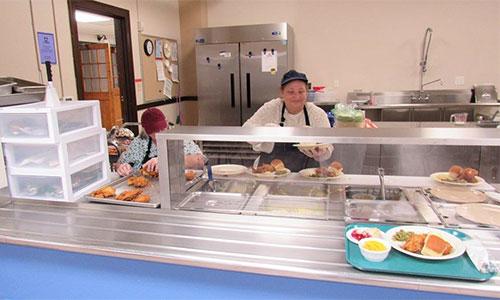senior lunch program server